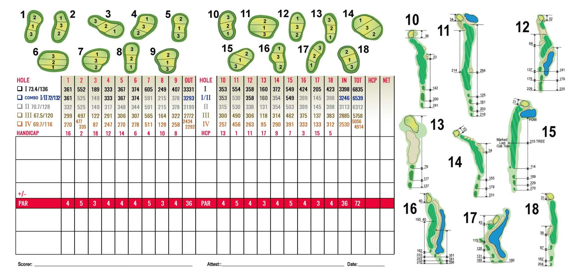 2021 Sandy Pines Scorecard front