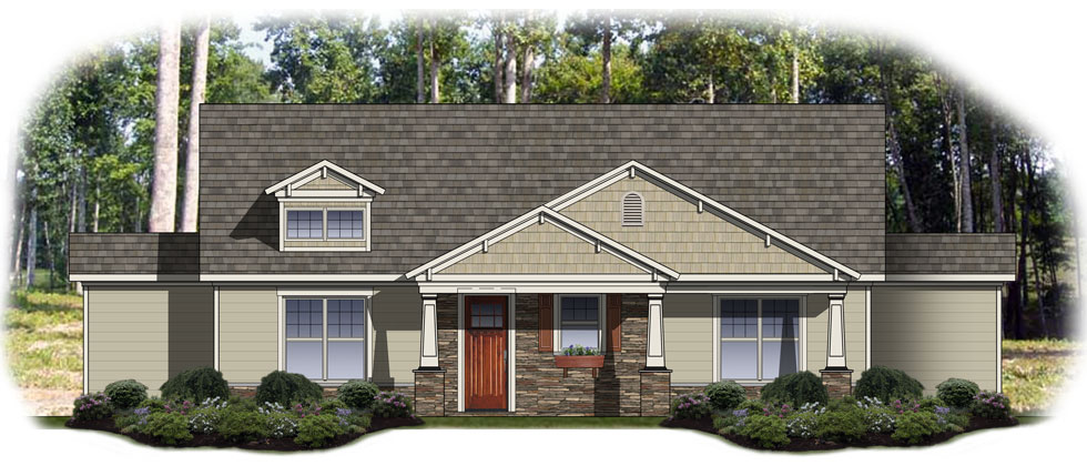 The Cottages - Front Rendering