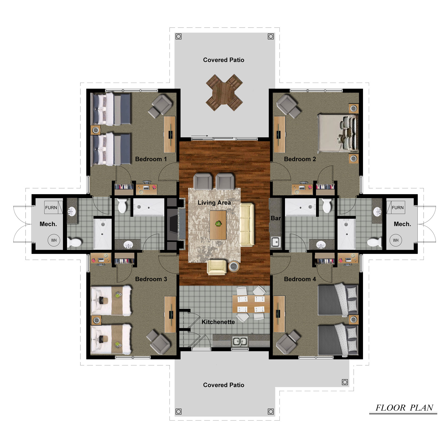 The Cottages Floor Plan